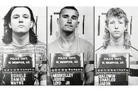 Damien Echols, Jessie Lloyd MissKelley Jr., and Jason Baldwin. Charged with Capital Murder.