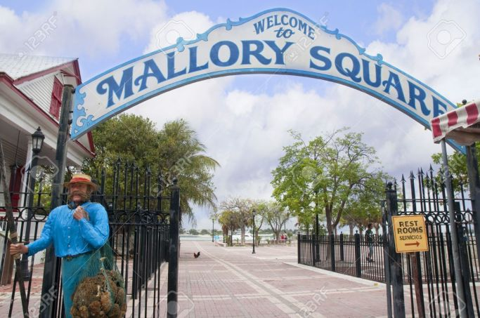 14543588-Mallory-Square-Entrance-in-Key-West-in-the-Florida-Keys-in-the-State-of-Florida-USA-Stock-Photo