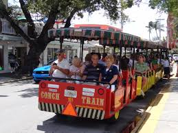 Red Trolley Train at Key West